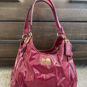 Patent leather coach carry all handbag